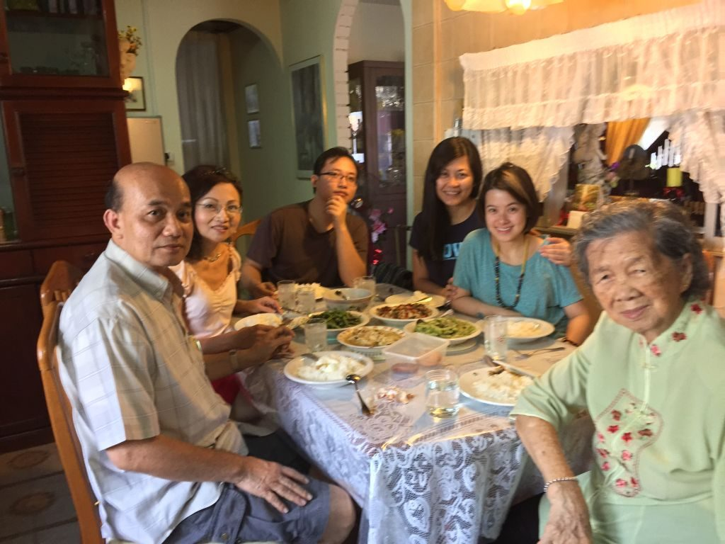 Anita (second from left) with her family and friends
