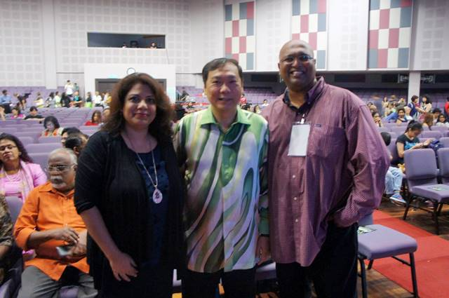Left to right - Shamini Ruth (ADOP Organizing Chairperson), Rev Dr Eu Hong Seng (Chairman, Christian Federation of Malaysia) and Rev Sean Prasad (ADOP Pastoral Advisor)