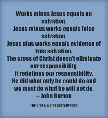 Cross, works, salvation