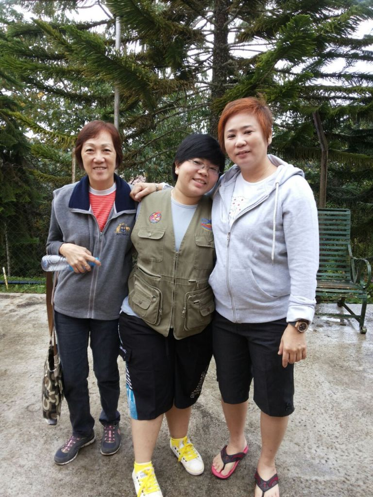 Sarah Lim today (far right)