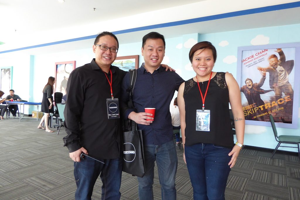 Pastor Joel Liew (most left) with participants of Alpha Film Series