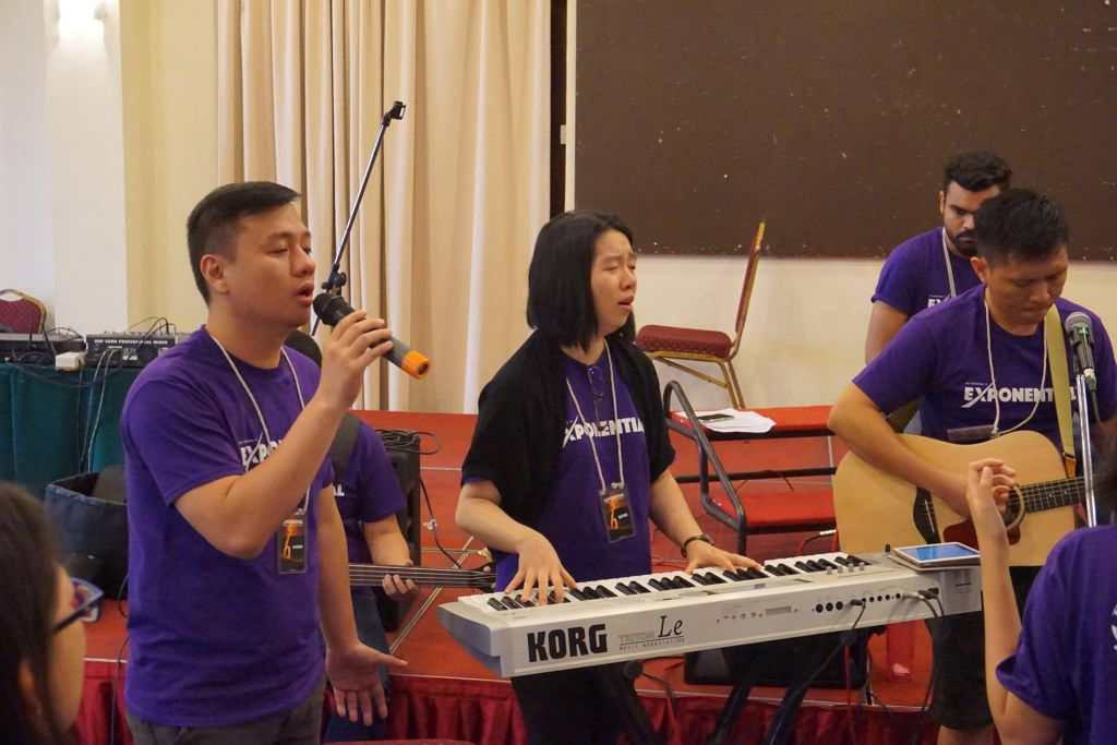 Worship team of the Exponential Camp in Taiping Golf Resort