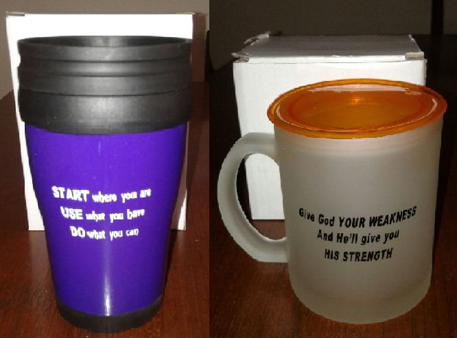 Mugs at RM20 each