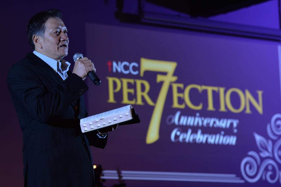 Allan Yong encouraging the attendees with the Word of God