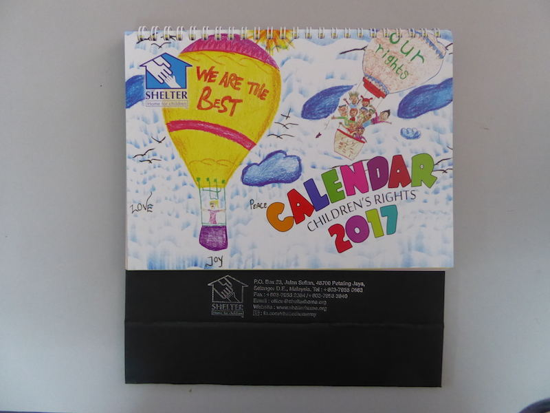 Calendar produced by SHELTER