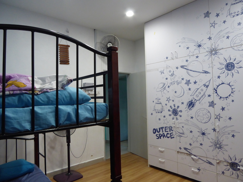 The rooms of children in SHELTER 1, done beautifully and sponsored by Kao Dim Malaysia