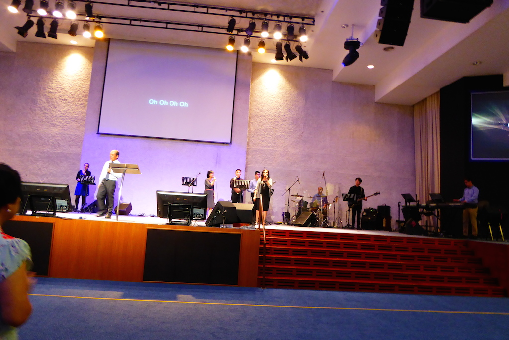 Pastor Vincent Leoh of GTPJ with the worship team