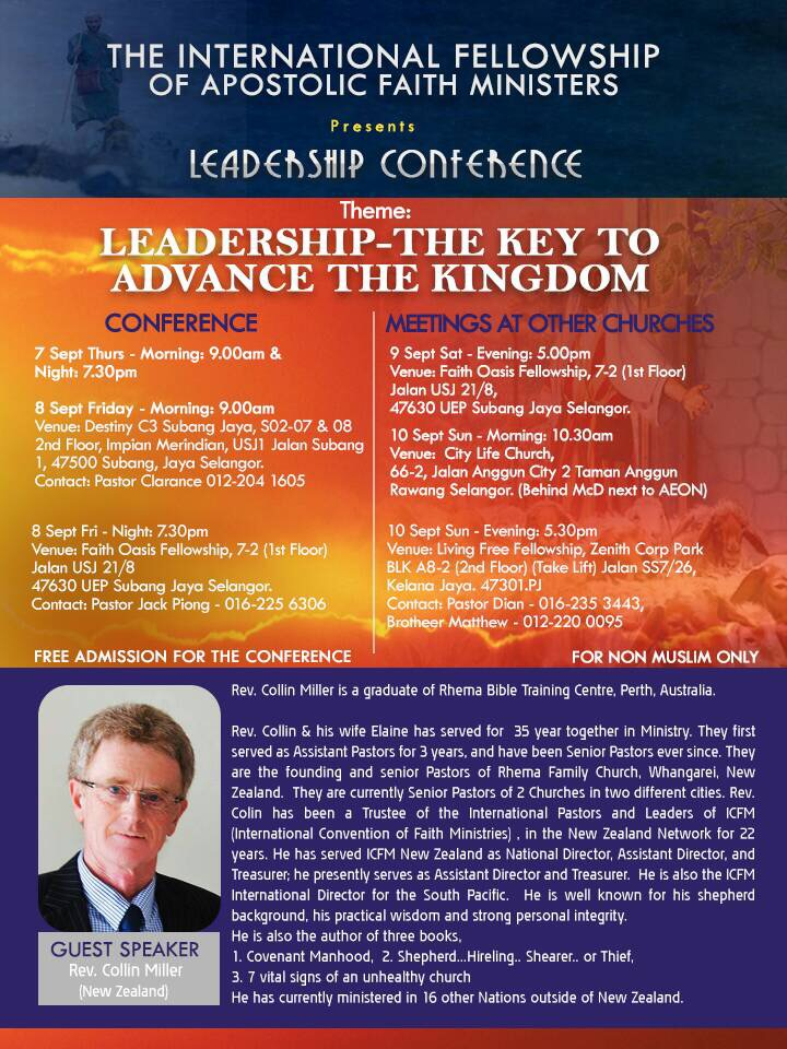 Leadership Conference by the International Fellowship of