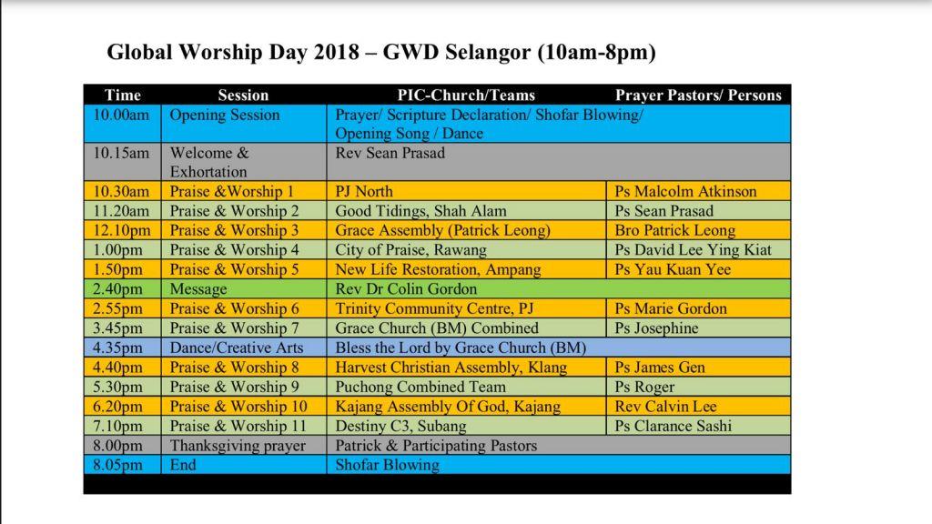 Global Worship Day Malaysia 2018